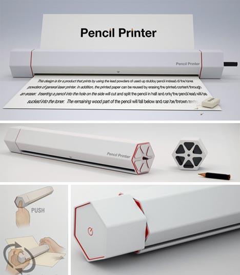 เครื่องปริ้นท์งานด้วยดินสอแทนน้ำหมึก  นวัตกรรมสุดแปลก