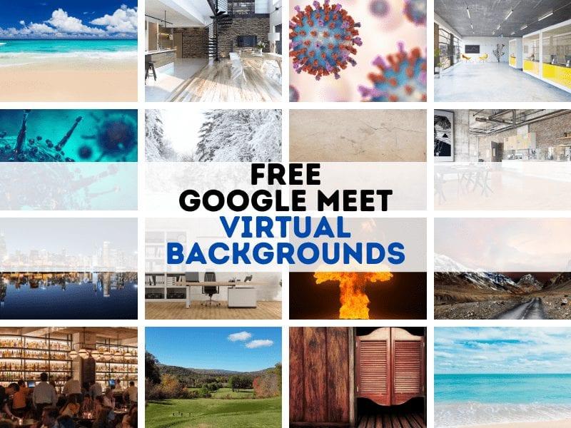 Google Meet ที่มีรูปสำนักงาน ฉากธรรมชาติ ภาพศิลปะให้เลือกมากมาย