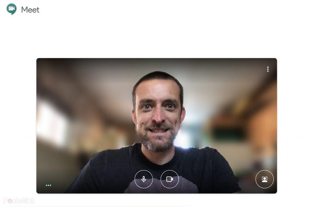 Google Meet Effect ที่มีการเบลอภาพหรือเพิ่มรูปเข้าไปในพื้นหลัง